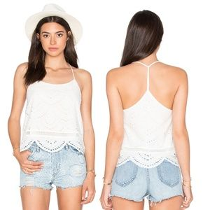 NWT Lovers + Friends Baciami Tank Top in White